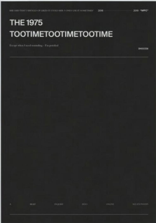 The 1975 – TOOTIMETOOTIME